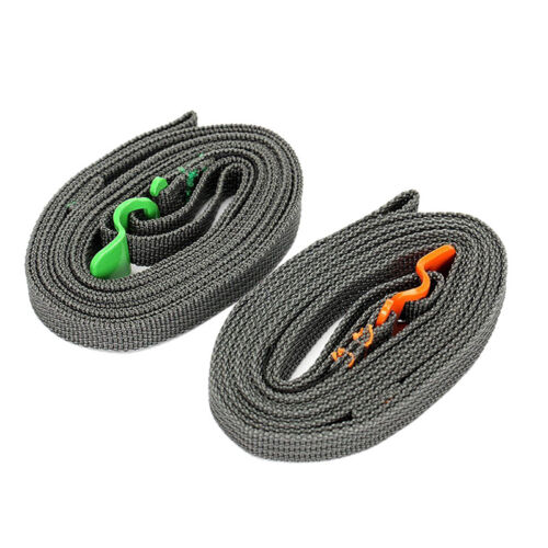 Outdoor Travel Strapping Cord Tape Rope Tied Pull Luggage Stainless Hook JL