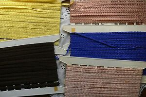 POLYESTER-BRAID-5-amp-9mmWide-3-Styles-5-Colours-Various-Lengths-MultiList-B5