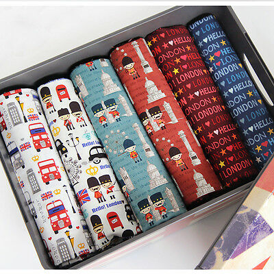 Pre-cut 100% Cotton HELLO LONDON Fabric Quilting Fat Quarter/ By The Yard
