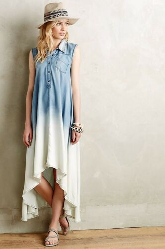 Holding Horses Anthropologie Dipped Chambray Shirt