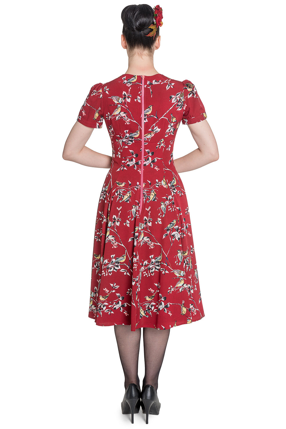 82c1d318d3 Hell Bunny Birdy 40s 50s Tea Party Pin Up Landgirl WW2 Retro Vintage Style  Dress
