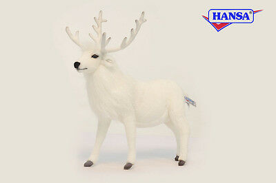 Hansa Toys Usa White Reindeer 6188 Plush Stuffed Animal Christmas Decor Gift New