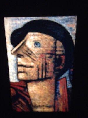 "1939"" French Social Realism 35mm Art Slide detail Apprehensive Marcel Gromaire ""the Tramp"