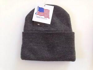 12 pc Charcoal Knit Winter Hat Ski Cap Wholesale Bulk Lot USA Made ... 1daccc2bc
