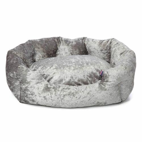 Bellagio Crushed Velvet Perro Cama Suave Polar Cojín Cálido de Lujo Del Animal Doméstico Lavable