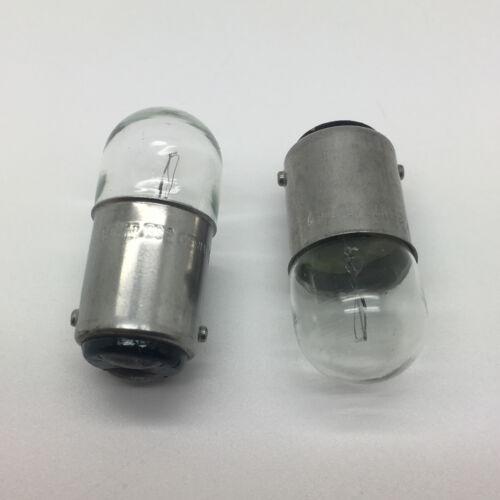 2 x 209 12v 5w BA15D Bayonet Car Bulb Double Contact Single Filament