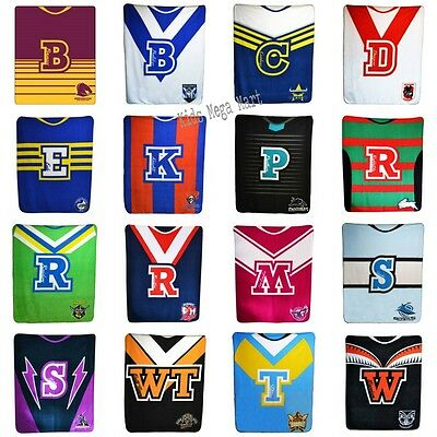 NRL Blanket Rugby League Printed fleece Throw rug Choose Your Design New