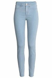 Ladies New Ex-Zara woman Sand wash Denim Spandex Jeans Skinny Trouser ORIGINAL