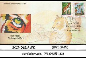 INDIA-2011-CHILDREN-039-S-DAY-2V-FDC