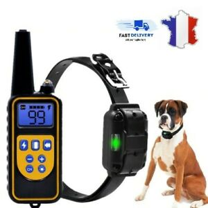 Electric-dressage-collar-anti-bark-dog-800m-lcd-waterproof-leaflet