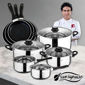 San-Ignacio-Juego-de-Sartenes-y-Bateria-de-Cocina-Aluminio-Negro-24-cm