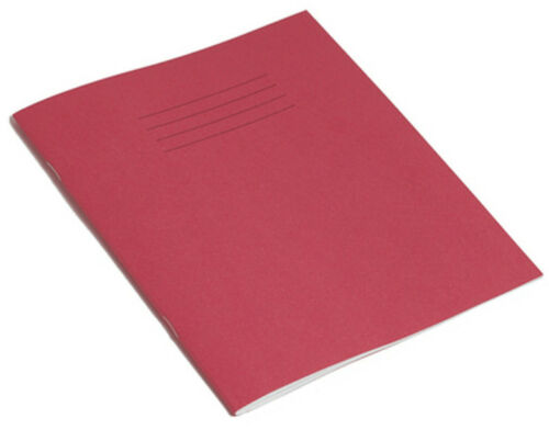 RED 60 PAGES 160 x 200mm EX5 8mm RULED 3 x EXERCISE BOOKS