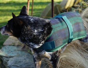 Hugglehounds-WOOL-DOG-JACKET-COAT-Black-Watch-Plaid-XS-XXL
