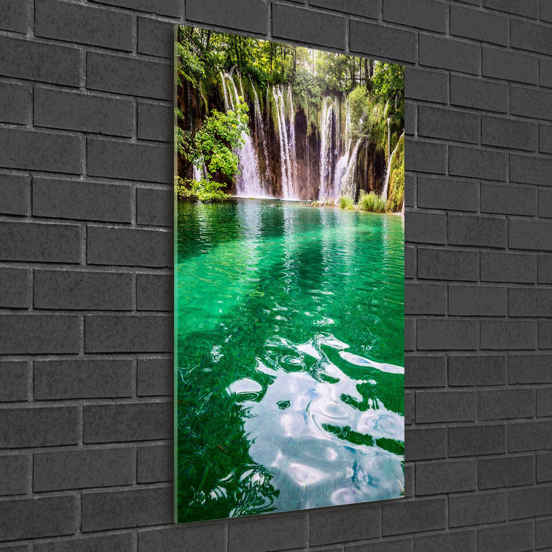 - Muro ARTE Immagine pressione rigida-VETRO verdeICALE 50x100 plitvicer laghi