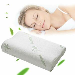 Bamboo-Cervical-Orthopaedic-Contour-Memory-Foam-Firm-Pillow-Neck-Back-Support