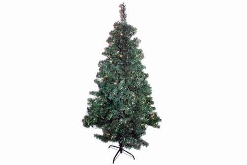 Sapin de Noël 180 cm avec DEL 100er-Guirlande lumineuse blanc chaud intérieur extérieur BRAUNS Hei