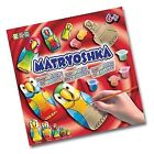 KSG Arts and Crafts Matryoshka Nesting Parrot Doll Painting Kit With 5 Woode