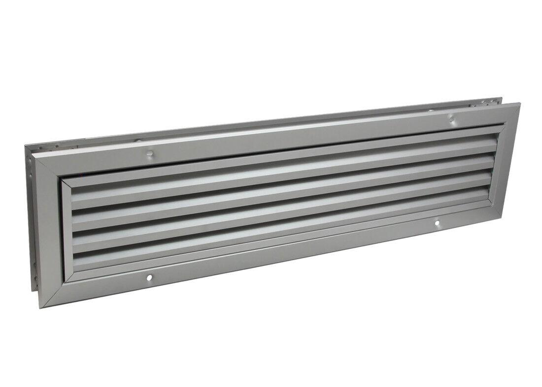 Lüftungsgitter LG-5010 DORAA Lamellengitter Alu 535 x 135 mm Abluft Zuluftgitter