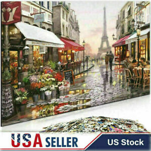 Paris-Flower-Street-1000-Piece-Jigsaw-Puzzle-Adult-Kids-Learning-Education-Toys