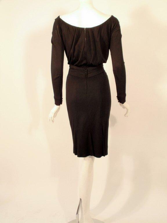 CEIL CHAPMAN Vintage Black Long Sleeve Jersey Coc… - image 3
