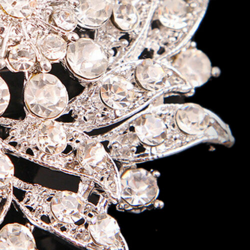 Vintage Style Rhinestone Crystal Party Brooch pins for women gift FO