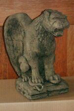 Mittelalter Romanischer Löwe Sandsteinreplikat Gargoyle Figur Romanik Stil