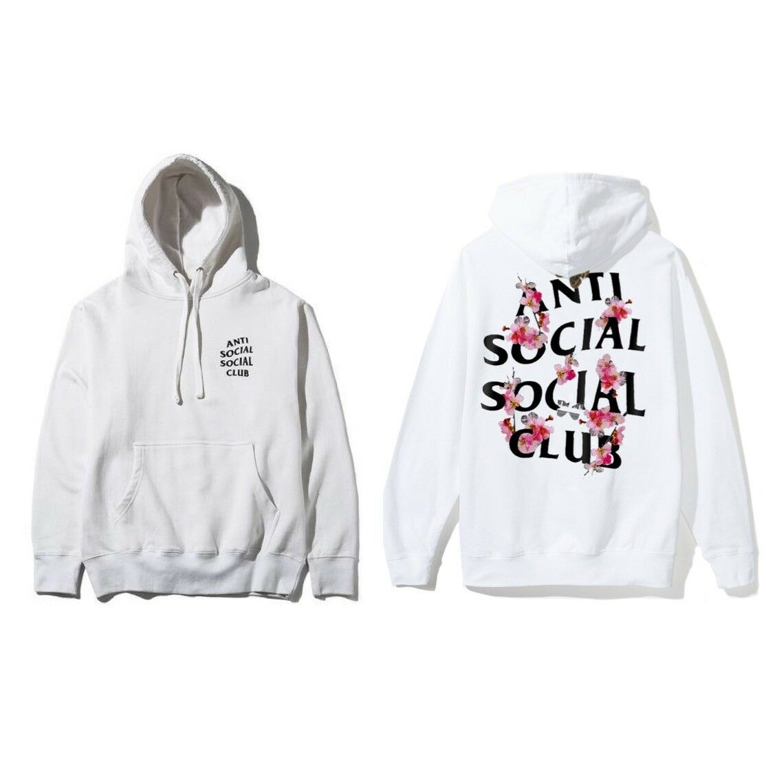 ASSC Anti Social Social Club ASSC logo Kkoch Weiß Hoody Größe XS S M L XL XXL