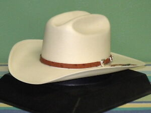STETSON EL NOBLE GENUINE 500X SHANTUNG PANAMA STRAW COWBOY WESTERN ... 446c5c8de1d