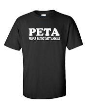PETA People Eating Tasty AnimalsMeat Eater Funny Men's Tee Shirt 509