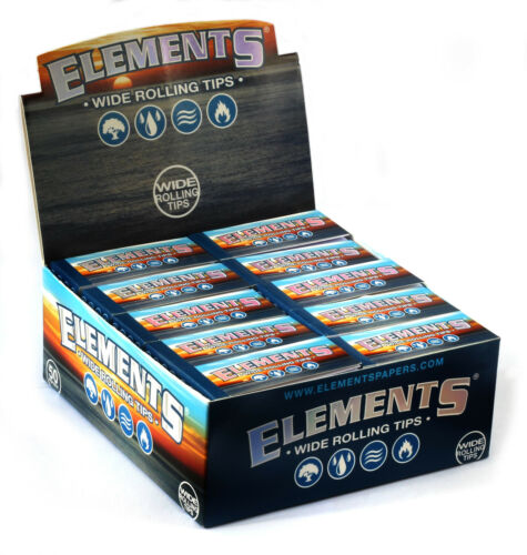 ELEMENTS WIDE Rolling Filter tips 1 box 50 booklets x 50 tips