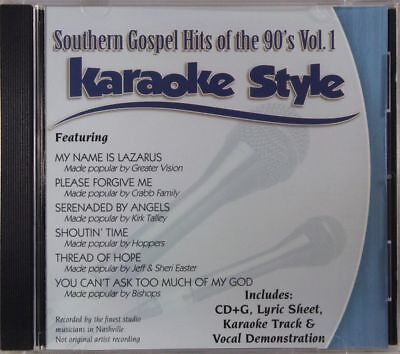 Earnest Southern Gospel Hits Of The 90's Volume 1 Karaoke Style New Cd+g Daywind 6 Songs Mild And Mellow Karaoke Entertainment