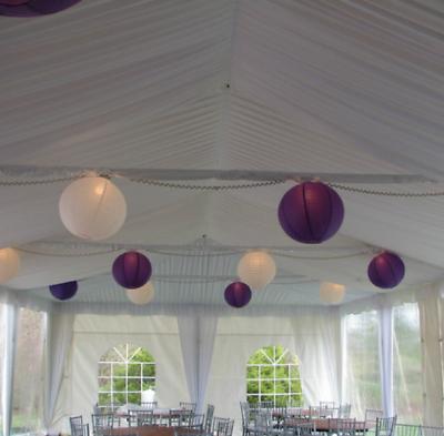 9x 30cm green paper lanterns lights DIY birthday wedding party  venue decoration