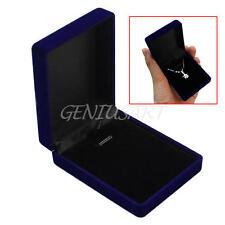 Velvet Necklace Jewelry Gift Display Box Ring Bracelet Storage Case Practical