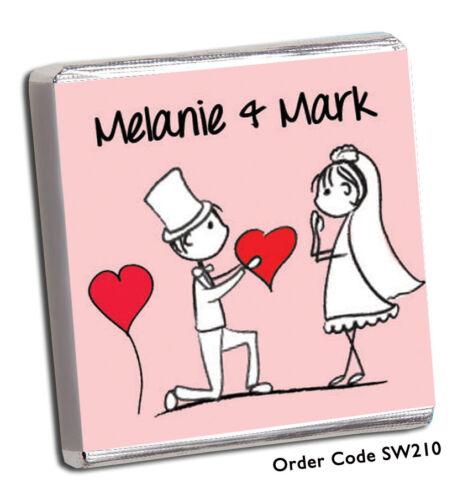 meilleur sur Faveurs de mariage chocolat personnalisé 100/'s designs Gratuit P+P WOW