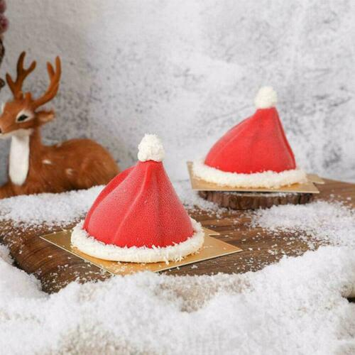 DIY 3D Silicone Christmas Hat Cake Mold Baking Mold Portable Bakeware To C9S3