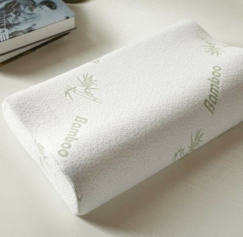 Rectangle Neck Massage Pillows Orthopedic Bamboo Fiber Memory Foam Sleep Pillow