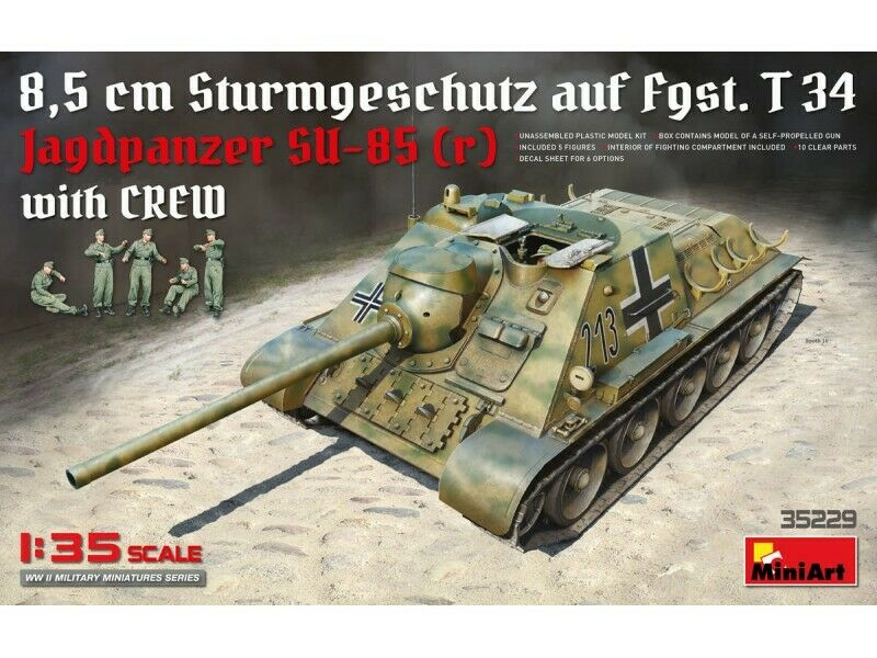 MINIART 1 35 Jagdpanzer SU-85 (R) SCATOLA DI MONTAGGIO