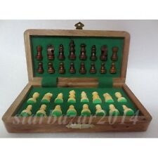 """Magnetic Wooden Chess Set 12"""" x 12"""""""