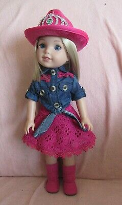 Pink Backpack fits American Girl Wellie Wisher Doll 14.5 Inch Seller lsful