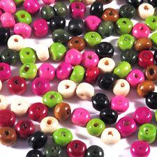Lot Mix 1200 Perles Rondes en Bois 6mm