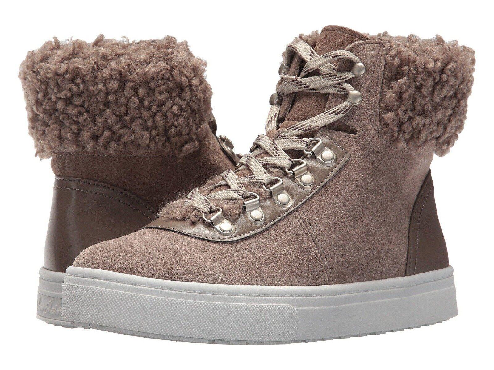 negozio di vendita outlet Sam Edelman Luther donna donna donna Dimensione 8.5M Putty Suede Faux Shearling scarpe da ginnastica avvioies  alta qualità generale