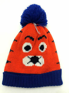 f80fa1453dcd8 Details about Children's Place Baby Boys Beanie 12 24 Months Tiger Hat  Medium Orange New