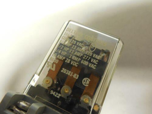 2-DELTROL CONTROLS RELAY 166A 3PDT 120Vac 10A A AMP 11 PINS 166A3PDT w// SR3B-05
