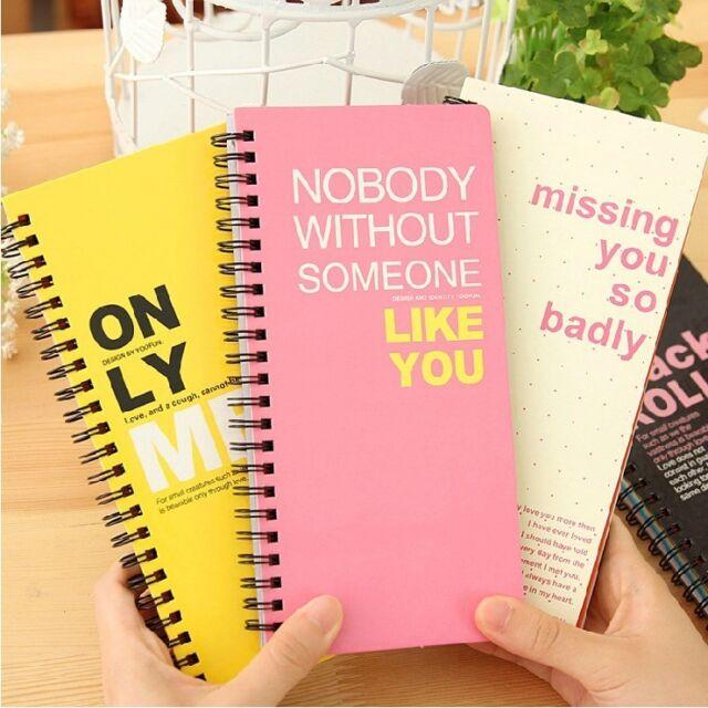 """Sandwich"" 1pc Planner Agenda Scheduler Cute Coil Diary Study Memo Notebook"
