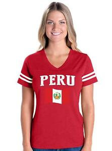 Peru-Womens-V-Neck-Fine-Jersey-Tee