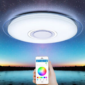Smart-LED-Ceiling-Light-APP-Bluetooth-Remote-Control-Dimmable-Dimming-Color-Lamp