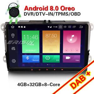 9-034-Android-8-0-Autoradio-Navi-Fuer-VW-Jetta-Golf-Caddy-Passat-Touran-EOS-Seat-DAB