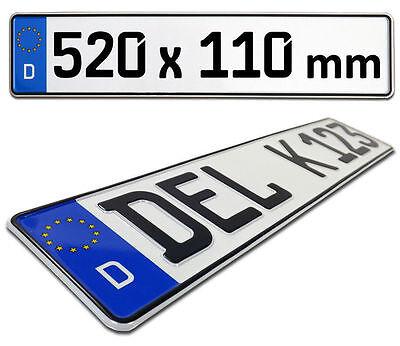 Nummernschilder 520 x 110 mm Autoschilder DIN Zertifiziert 2 x EU Kennzeichen