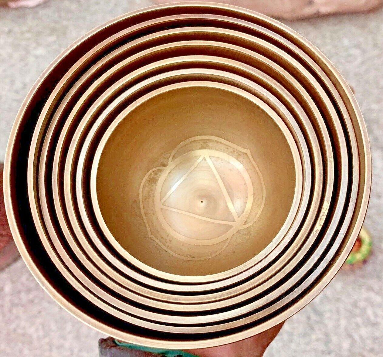 Set of 7 Singing bowl-tibetan singing bowl-Meditation bowl-spiritual- Healing