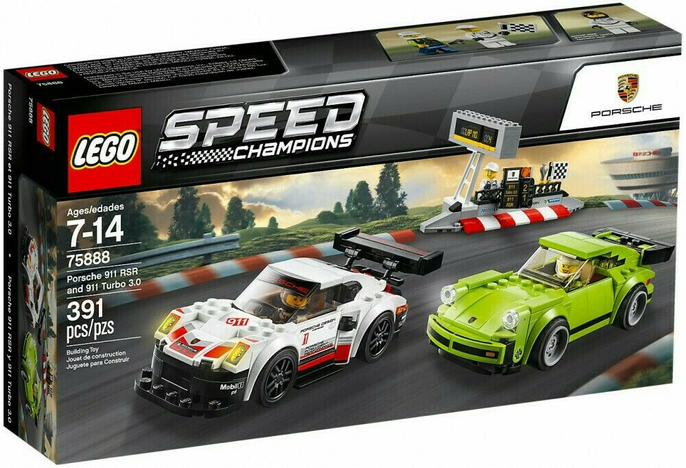 Neuf  New LEGO SPEED CHAMPIONS 75888 Porsche 911 RSR & TURBO 3.0